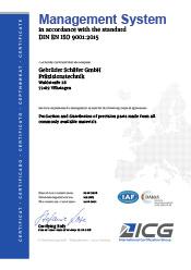 Zertifizierungen Moody Zertifikat englisch